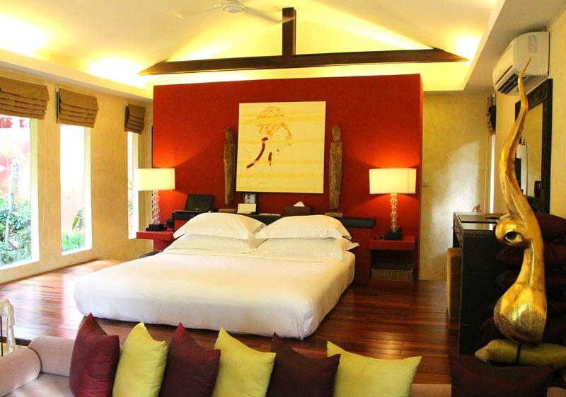 Bedroom of garden villa at Zazen Boutique Resort, Koh Samui