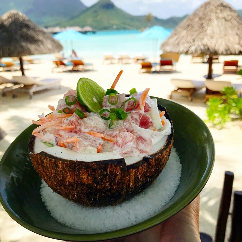 Four Seasons Bora Bora seafood