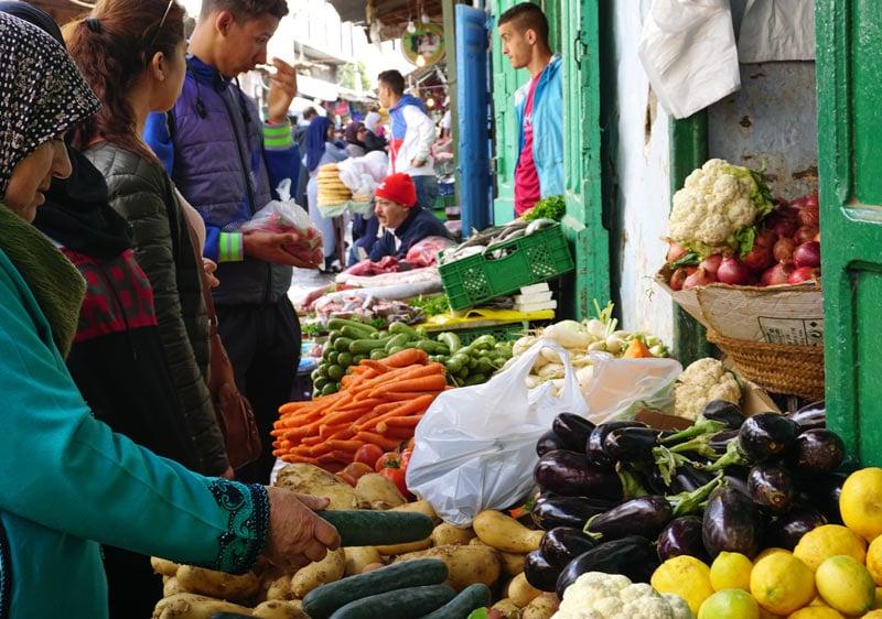 Tetouan Medina vegetables
