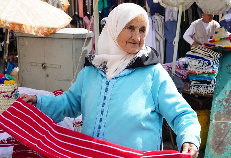 Tetouan Medina textiles