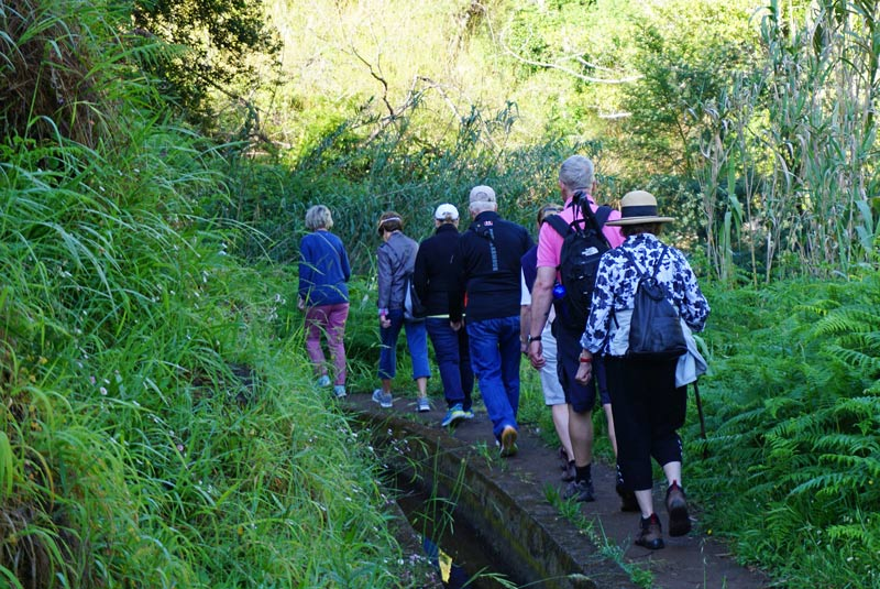 Hiking in Madeira along the levadas is very popular on the island.
