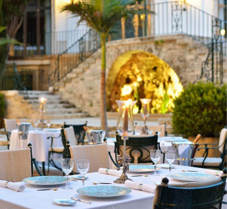 The Candlelight restaurant is run by Michelin-star chef Romain Fornell