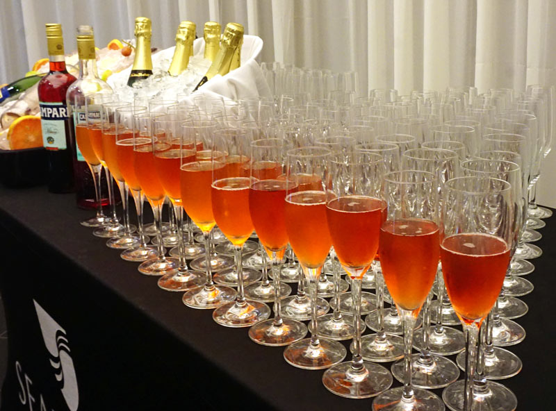 champagne cocktails on Seabourn