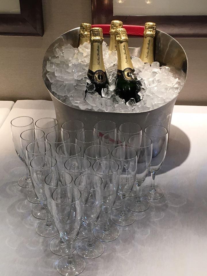 champagne on Seabourn