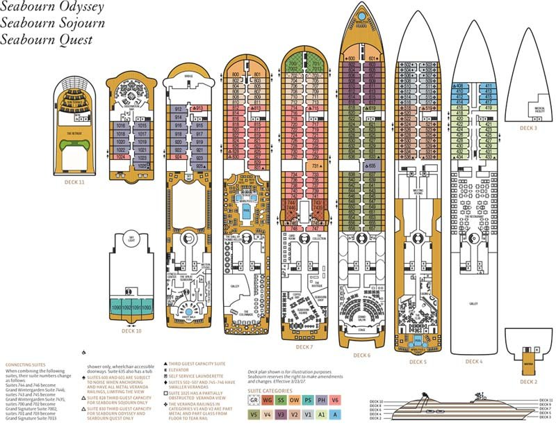 Seabourn Odyssey deck plan