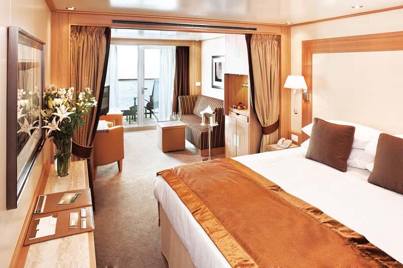 Seabourn Odyssey cabins (a Veranda suite)