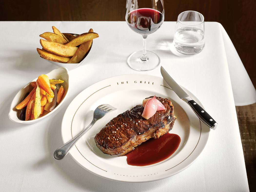New York steak in The Grill by Thomas Keller