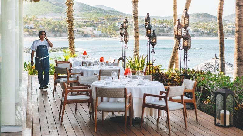 One and Only Palmilla oceanfront dining