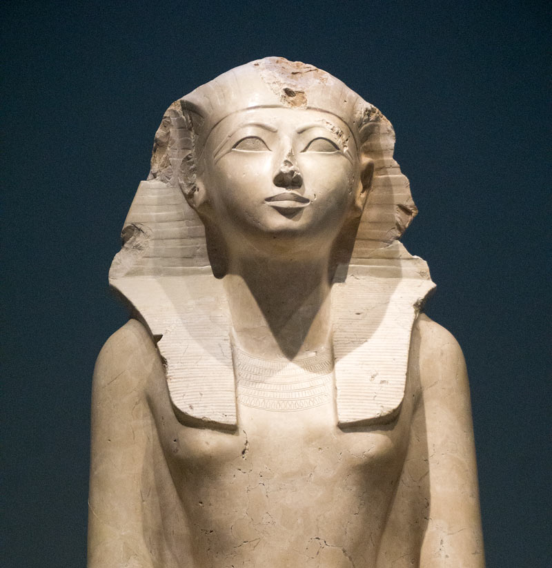 Among the Egyptian art at the Met is a lovely sculpture of Queen Hatshepsut.