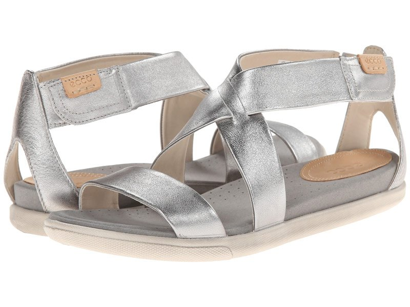 Silver Ecco Damara sandals for women