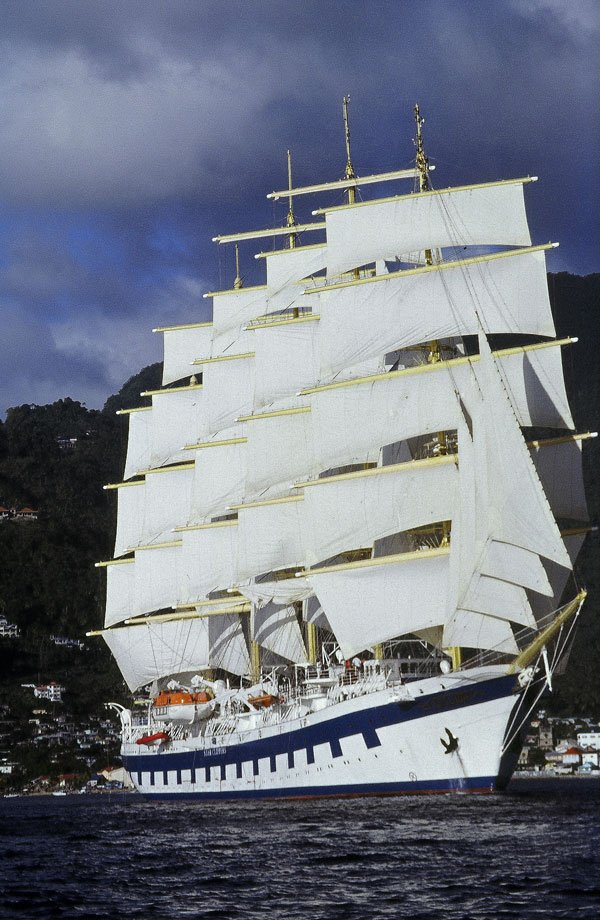 The Royal Clipper under full sail