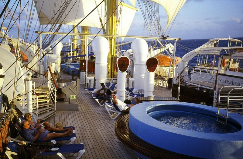Pool on the Royal Clipper ship