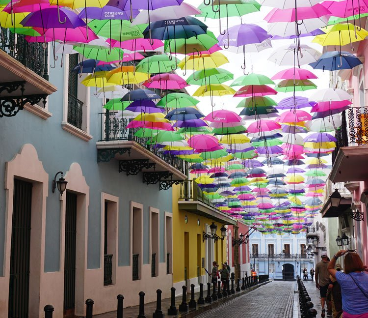 Be sure to stroll colorful Fortaleza Street when visiting Old San Juan, Puerto Rico!