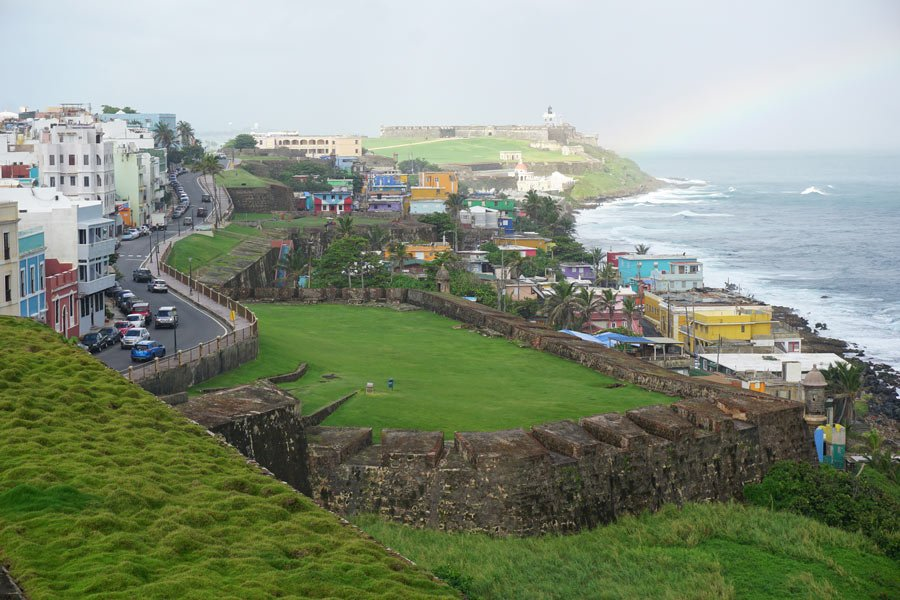 There are incredible views from Castillo de San Cristobal, Old San Juan!