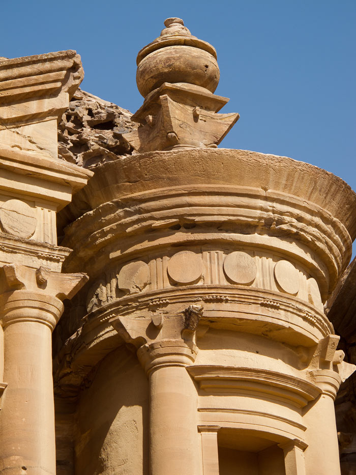 Close-up of the Petra Monastery