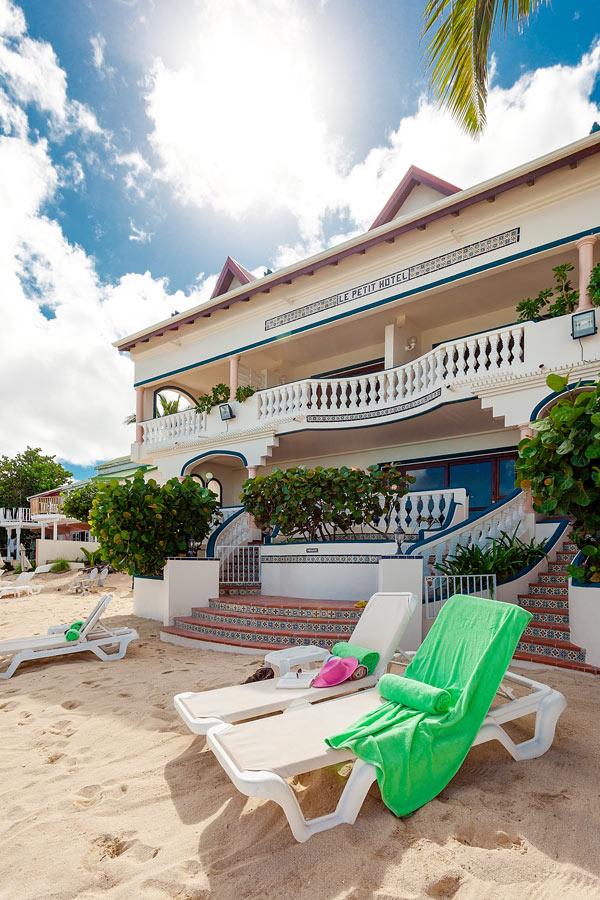 Beach at Le Petit Hotel, St. Martin