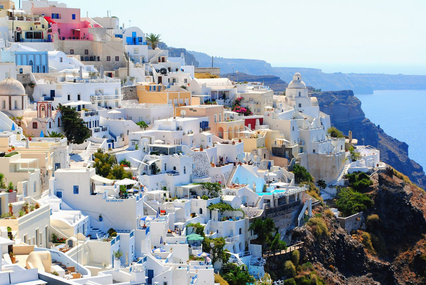 How about visiting Santorini on a chartered yacht?