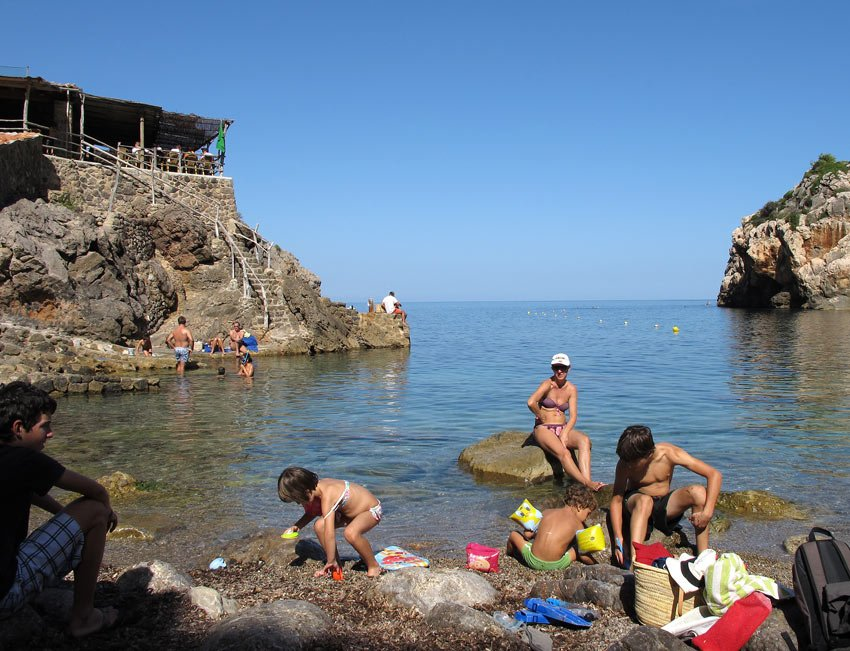 Swimming in Mallorca at Cala Deia