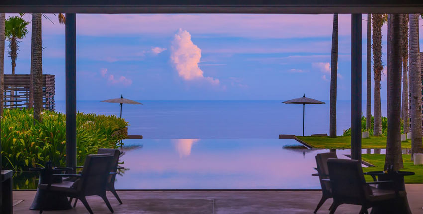 The view from Alila Villas Uluwatu at dusk...