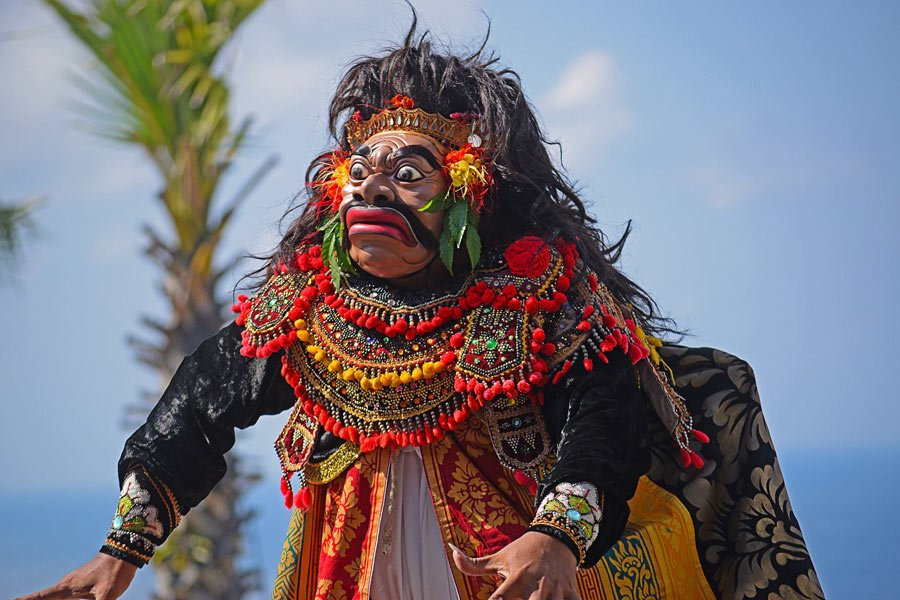 Balinese dance performers wear lavish and intricate costumes.