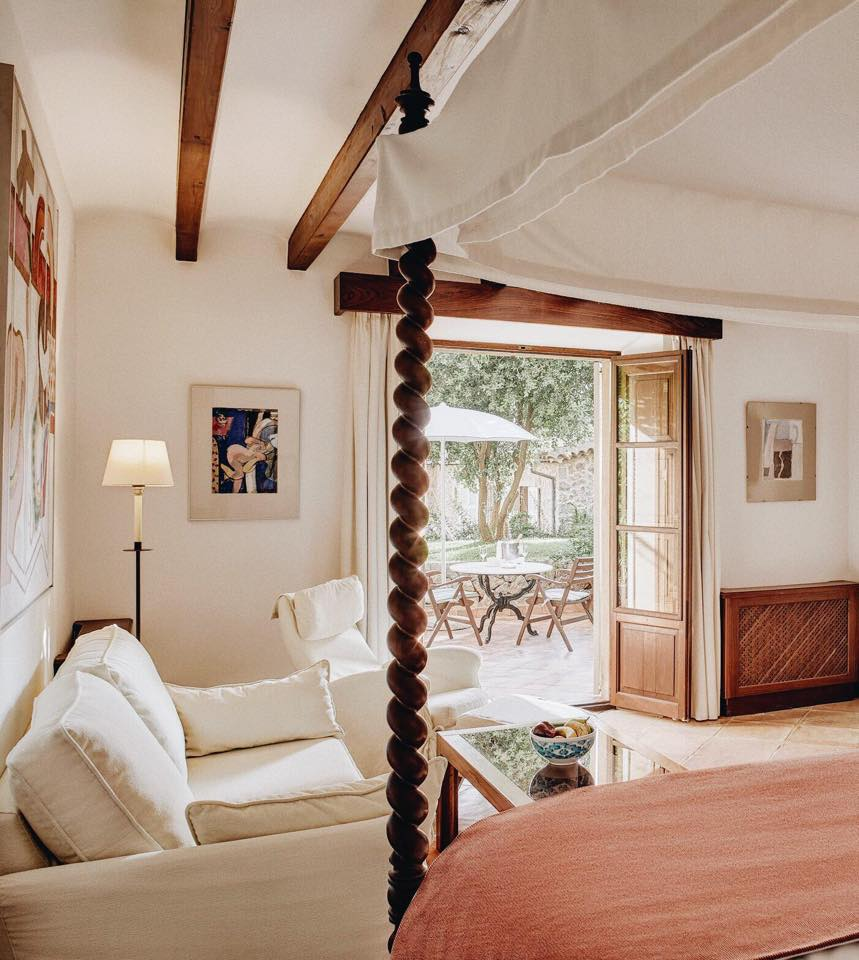 Guestrooms at La Residencia are individually decorated; no two are alike.