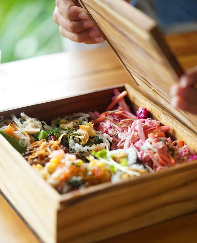 Japanese-Latin fusion cuisine at The Sayan House Restaurant, one of the best Ubud restaurants