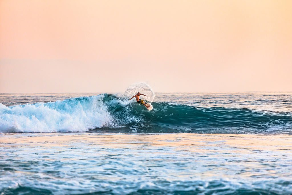 Surfing in Bali is epic