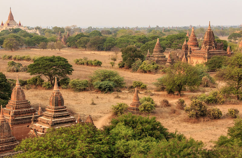 Temples of Bagan on a Myanmar river cruise