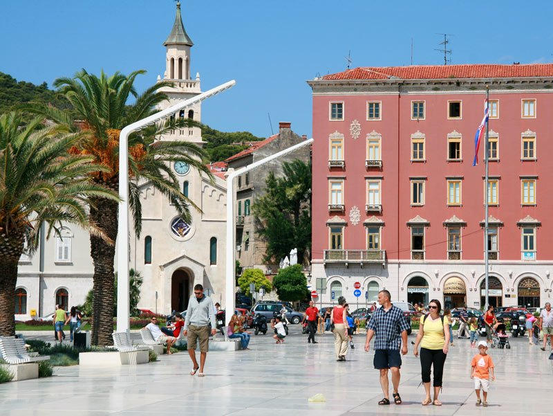 The Riva in Split, Croatia