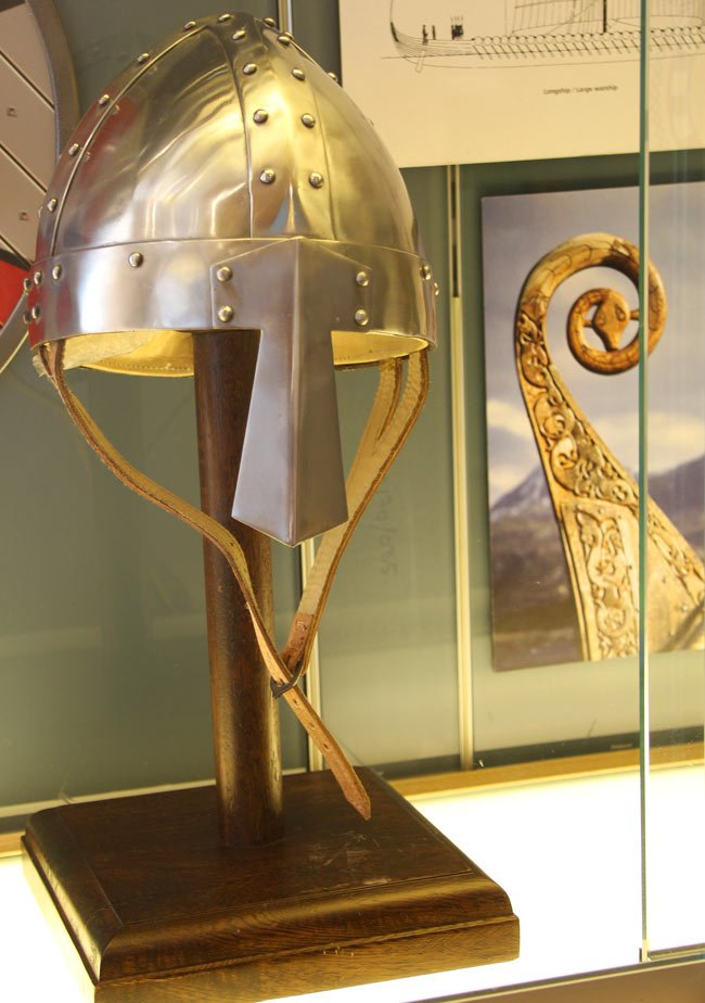 Viking Star ship review: A Viking helmet on display