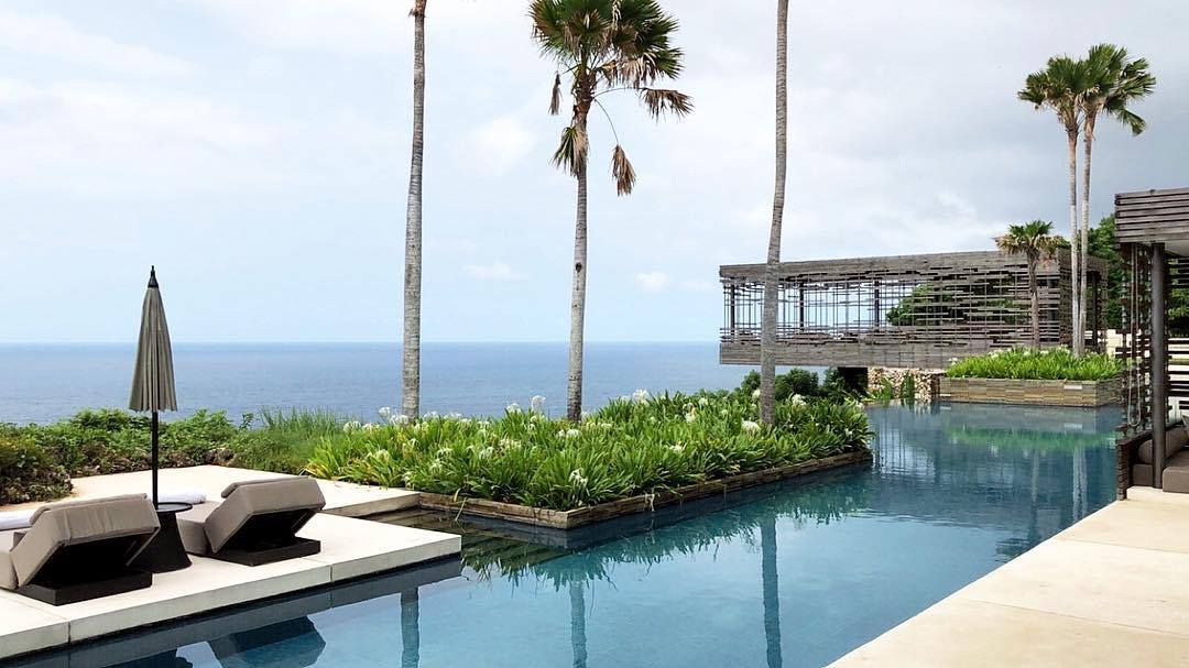Looking out from the stunning infinity pool which overlooks the sea