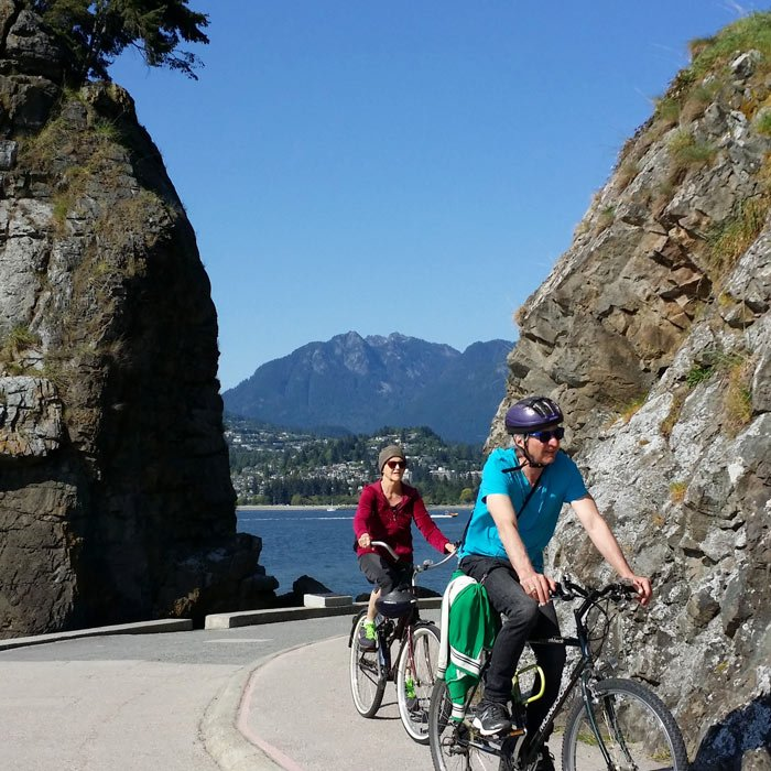 Bike rentals in Stanley Park for pedaling around the Seawall