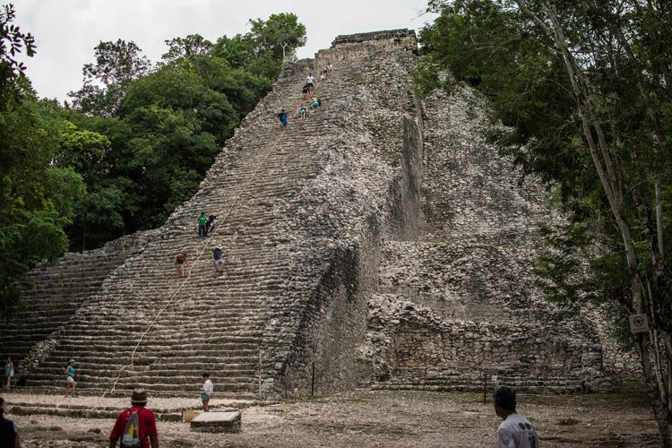 Coba's Nohoch Mul pyramid is one of the few Yucatan Mayan ruins you can still climb