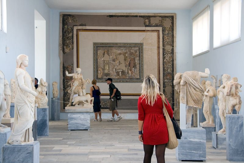 The Delos Archaeological Museum on the island houses beautiful ancient marble sculptures