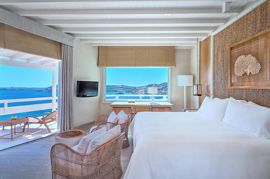 A deluxe seaview room at Santa Marina Resort & Villas