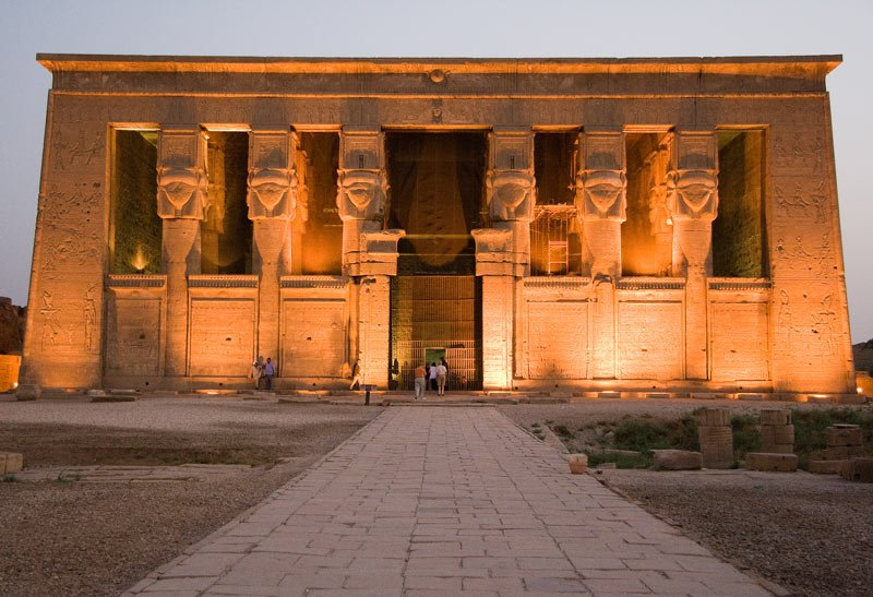 The Temple of Hathor is one of the best preserved Egyptian monuments