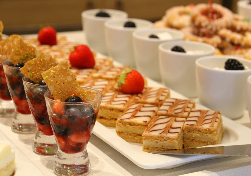 There are lots of tempting desserts fro lunch on Viking Ocean Cruises' ships.