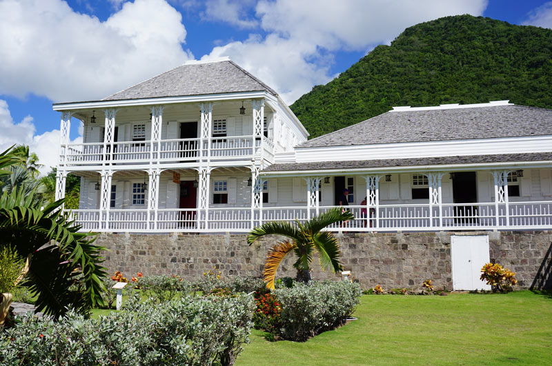 In St. Kitts, we toured the Fairview Great House, an 18th century plantation manor