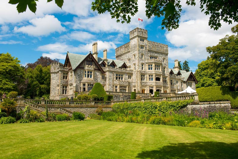 The gardens at Hatley Castle are among the 5 best gardens in Victoria, BC