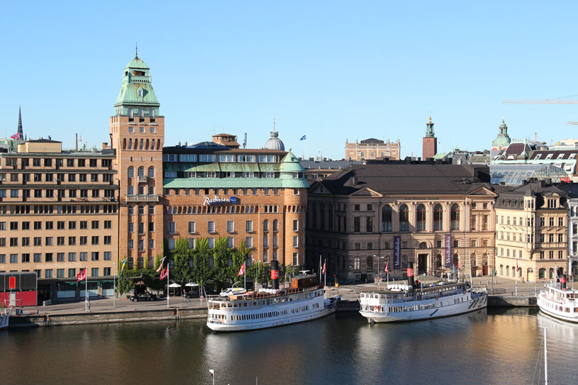 View from our room at the Hotel Diplomat Stockholm