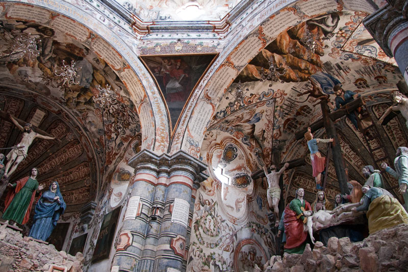 It's a riot of color and art forms inside the Sanctuary of Atotonilco