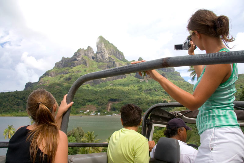 Jeep safari of Bora Bora