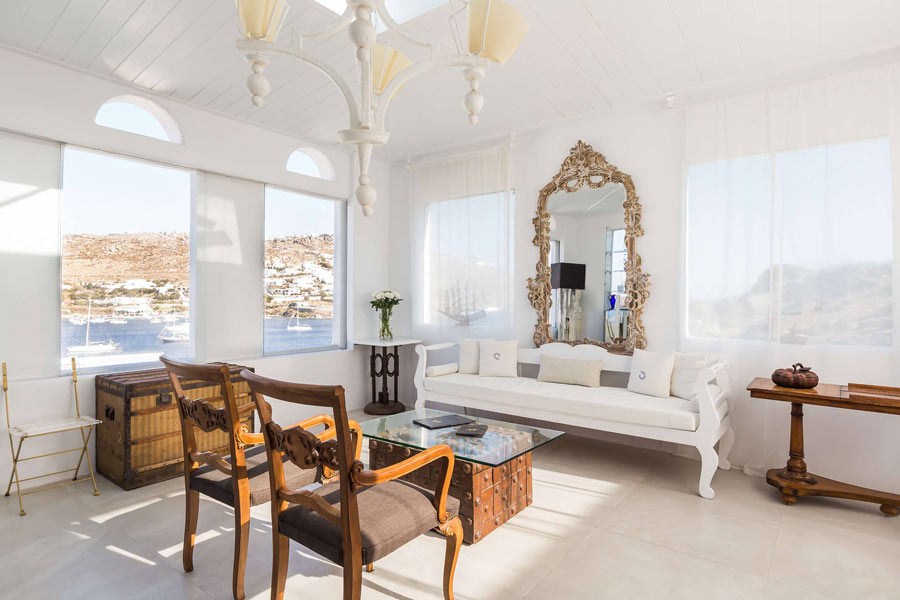 Luxury is in the artistic details at this 5 stay Mykonos hotel
