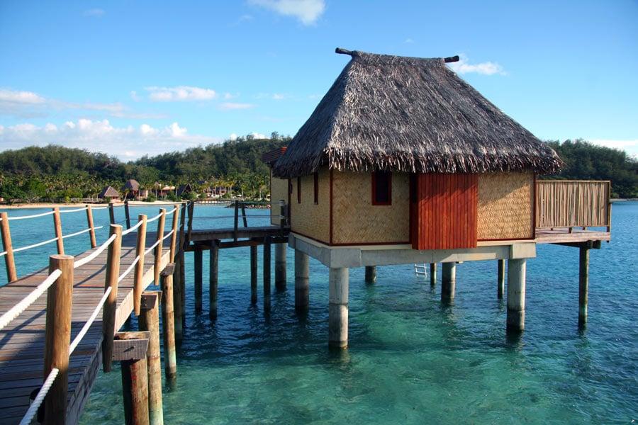 Overwater bures in Fiji