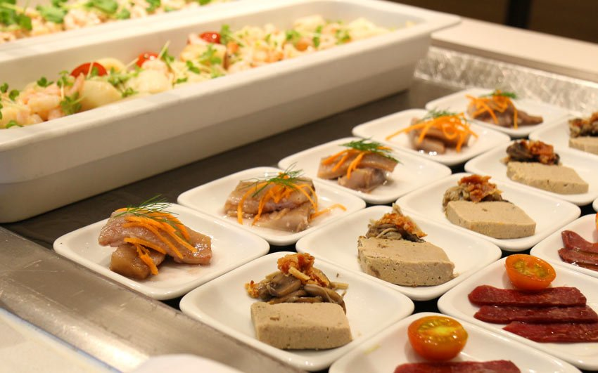 Savory appetizers on the Viking Star cruise ship