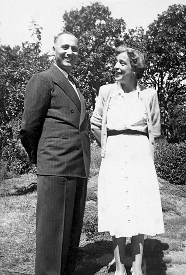 Nicholas and Peggy Abkhazi, who created Abkhazi Garden, Victoria
