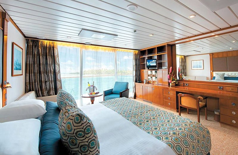 A typical stateroom on the Paul Gauguin