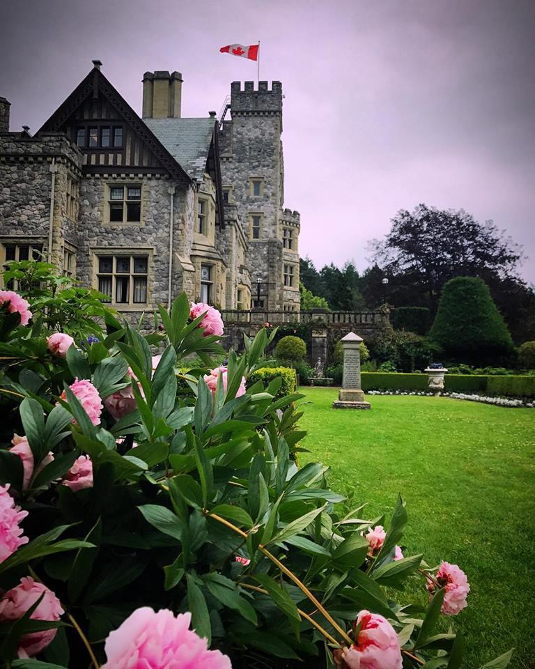 The gardens outside Hatley Castle