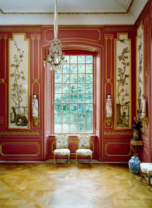 Red Room at the Chinese Pavilion, Drottningholm Palace