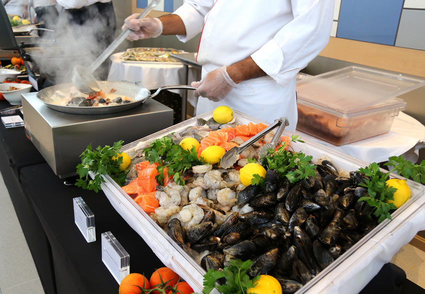 You can eat all the delicious seafood you want on Viking Cruises' ships!